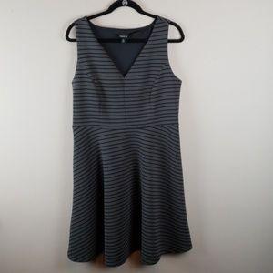 Torrid Black and Gray Dress Sz 0
